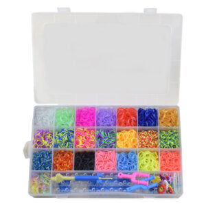 Loom Bands kit 4.400 st band - Gör egna armband & figurer