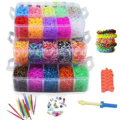 Loom Bands kit 15.000 st band – Gör egna armband & figurer