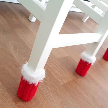 Handstickade julstrumpor för stolen! 2-pack