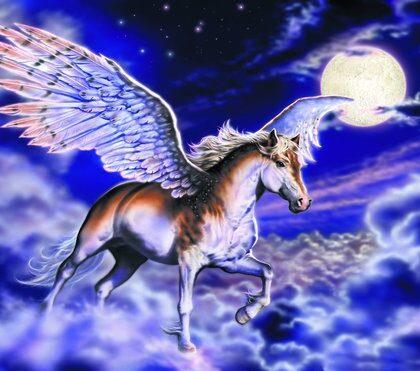 Fototapet Pegasus häst