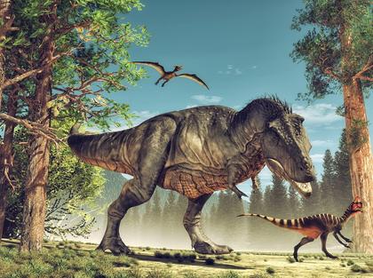 Fototapet dinosaurier