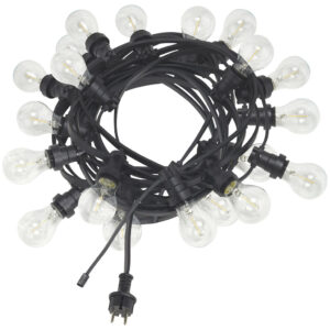 Ljusslinga Bright light String Svart/Klar MIDAL