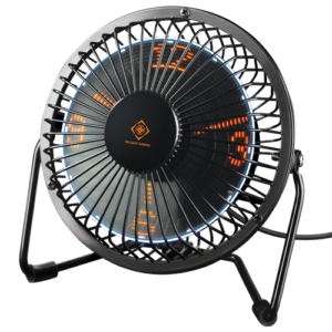 Deltaco Gaming USB bordsfläkt med klocka MIDAL