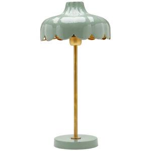 Wells Bordslampa Grön/guld 50 cm MIDAL